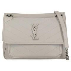 Saint Laurent  Women   Shoulder bags   Grey Leather