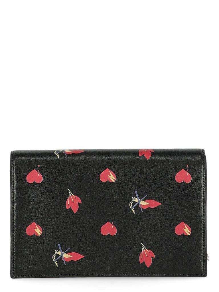 Women's Saint Laurent  Women Shoulder bags  Pompom Kate Black, Red Leather For Sale