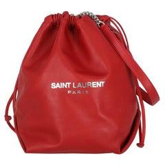 Saint Laurent Women  Shoulder bags Red Leather
