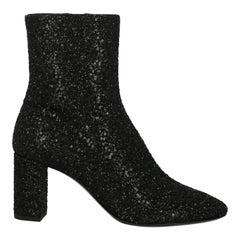 Saint Laurent Women's Ankle Boots Black Rubber Size IT 37