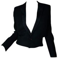 Saint Laurent Women's Black Wool Tuxedo Jacket