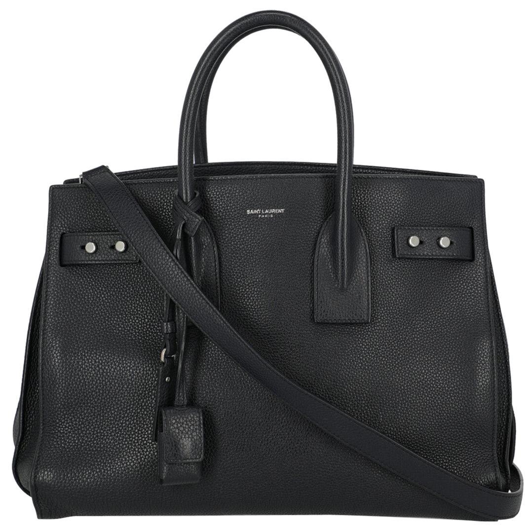 Saint Laurent Women's Handbag Sac De Jour Navy Leather