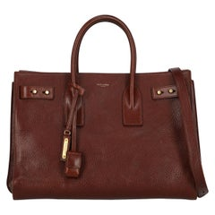 Saint Laurent Women's Sac De Jour Brown Leather