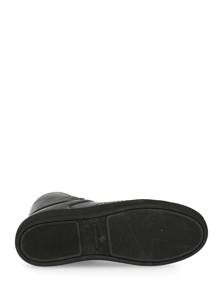 Saint Laurent Women's Sneaker Black Leather Size IT 37 For Sale 1