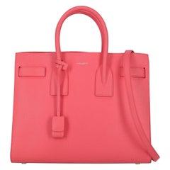 Saint Laurent Women's Tote Bag Sac De Jour Pink Leather