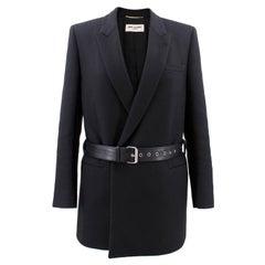 Saint Laurent Wool Belted Coat - Size XS