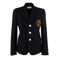 Saint Laurent Wool Black Blazer - US Size 4