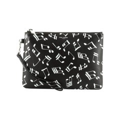 Saint Laurent Wristlet Pouch Printed Leather Small