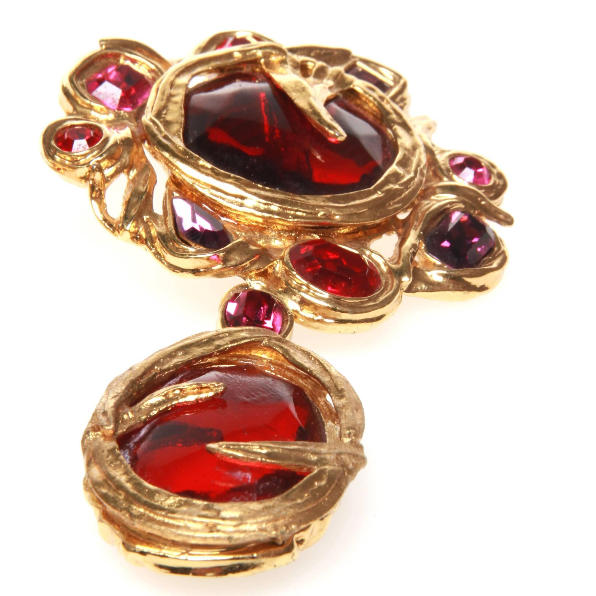 5f8e4b17496 Saint Laurent YSL Opulent Clip On Earrings For Sale at 1stdibs