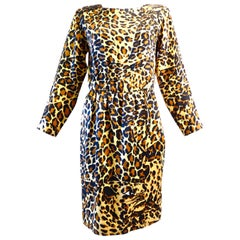 "Saint Laurent, Yves ""Leopard"" Silk Dress 1980s"