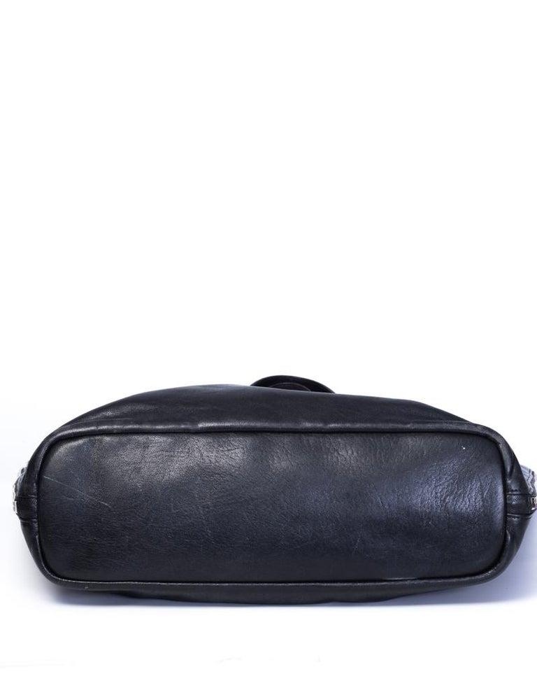 Black Saint Laurent Zipper Cabas Leather Tote Bag For Sale
