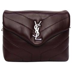 Saint Laurenti Bordeaux Leather Toy Lou Lou Bag
