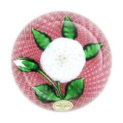 Saint Louis Crystal Flower Paperweight