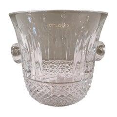 "Saint Louis Handcut Crystal ""Tommy"" Ice Bucket France, Modern"