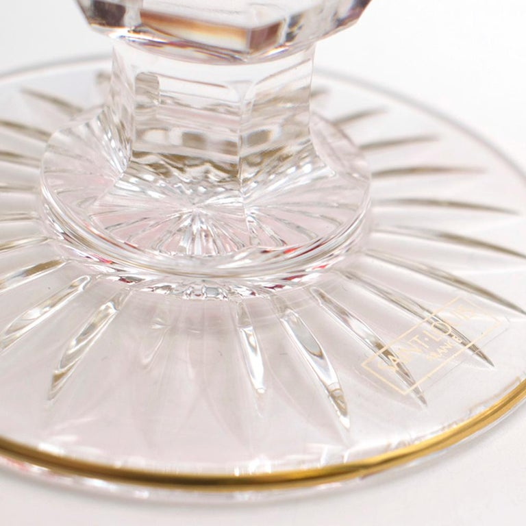 Saint-Louis Set of 6 Trianon Wine Glasses & Two Thistle Coffee Cups For Sale 6