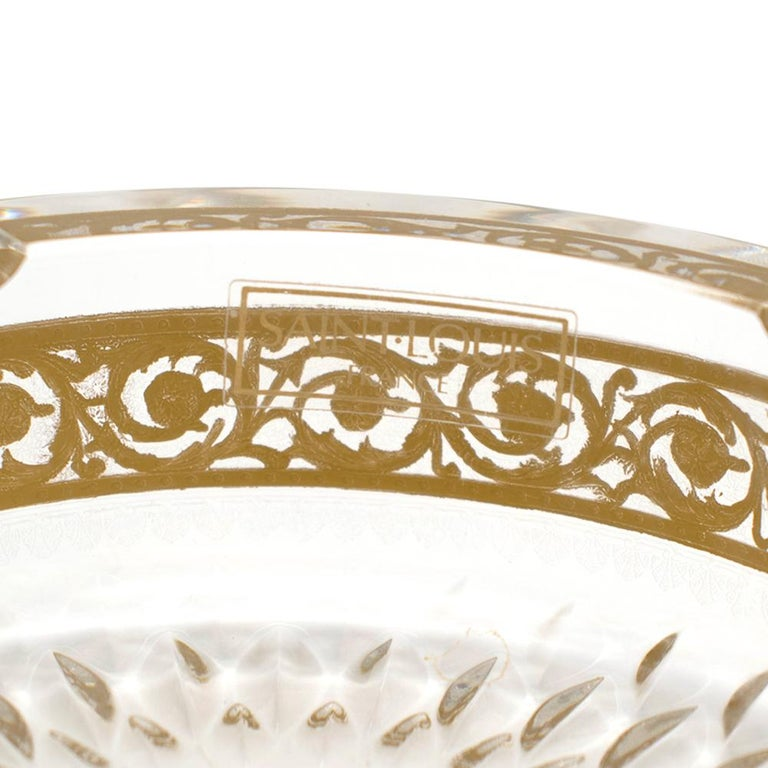 Saint Louis Small Gold Thistle Ash Tray In New Condition For Sale In London, GB