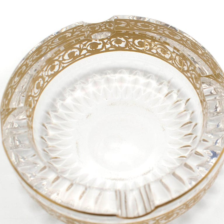 Women's or Men's  Saint Louis Small Gold Thistle Ash Tray For Sale