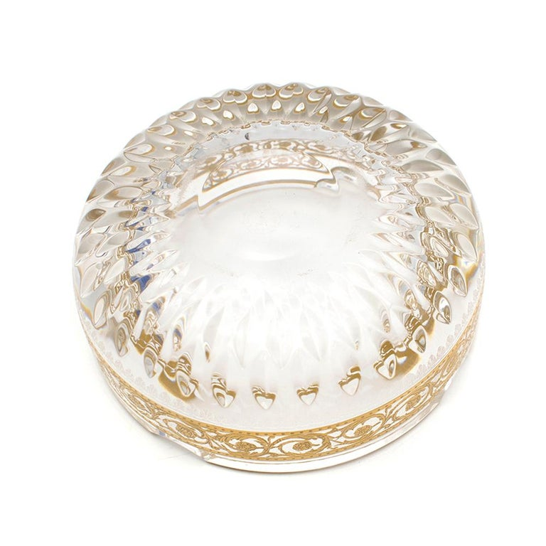 Saint Louis Small Gold Thistle Ash Tray For Sale 2
