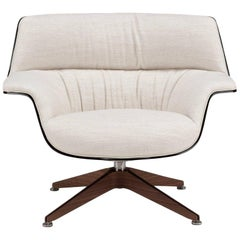 Saint Luc 'Coach' Lounge Chair in White by J.M. Massaud