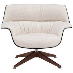 Saint Luc 'Coach' Lounge Chair in White by J.M. Massaud
