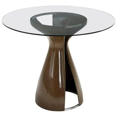 Saint Luc 'Codet' Coffee Table with Glass Top by J. Philippe Nuel