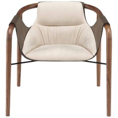 Saint Luc 'Hamac' Armchair in Ivory by J.P. Nuel, 1stdibs New York