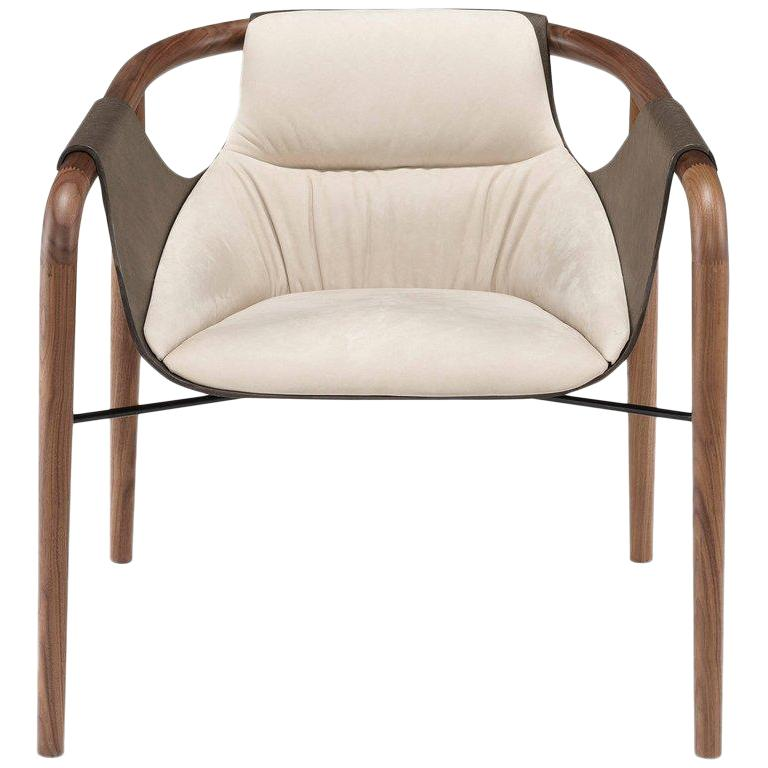 Saint Luc 'Hamac' Armchair in Ivory by J.P. Nuel, 1stdibs New York For Sale