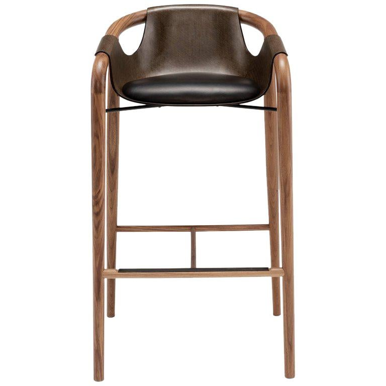 Furniture Sale New York: Saint Luc 'Hamac' High Stool In Brown By J.P. Nuel