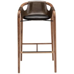 Saint Luc 'Hamac' High Stool in Brown by J.P. Nuel