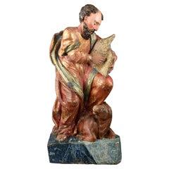 """Saint Luke the Evangelist"", Polychromed Wood, 16th Century"