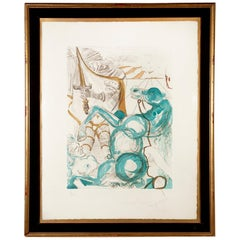 """Saint Martin of Tours"" by Salvador Dali, 1965 Aquatint 51/175"