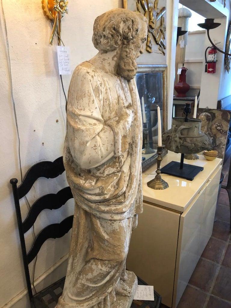 19th Century Saint Phillipe Benizzi Terra Cotta Statue For Sale