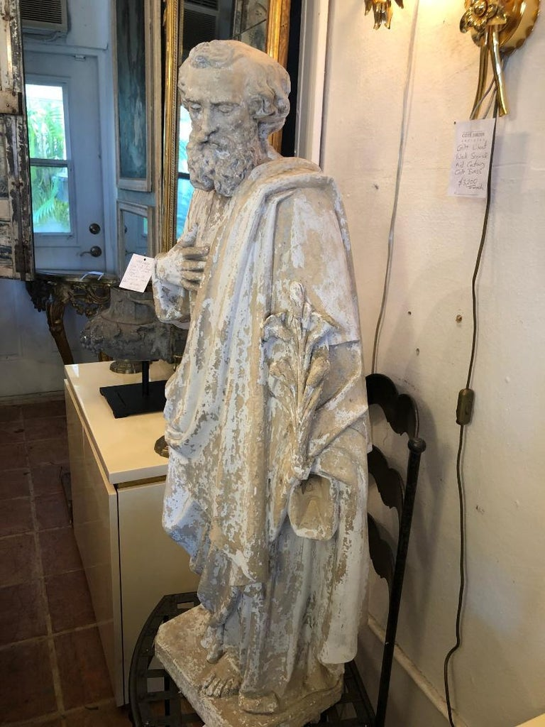 Terracotta Saint Phillipe Benizzi Terra Cotta Statue For Sale