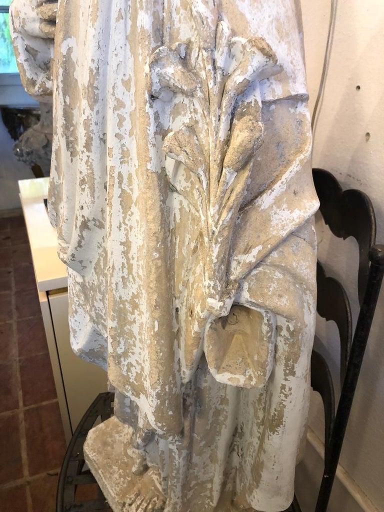 Saint Phillipe Benizzi Terra Cotta Statue For Sale 1