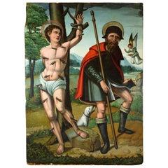 Saint Sebastian and Saint Roche, Antonio Vázquez, ca. 1530, Spain