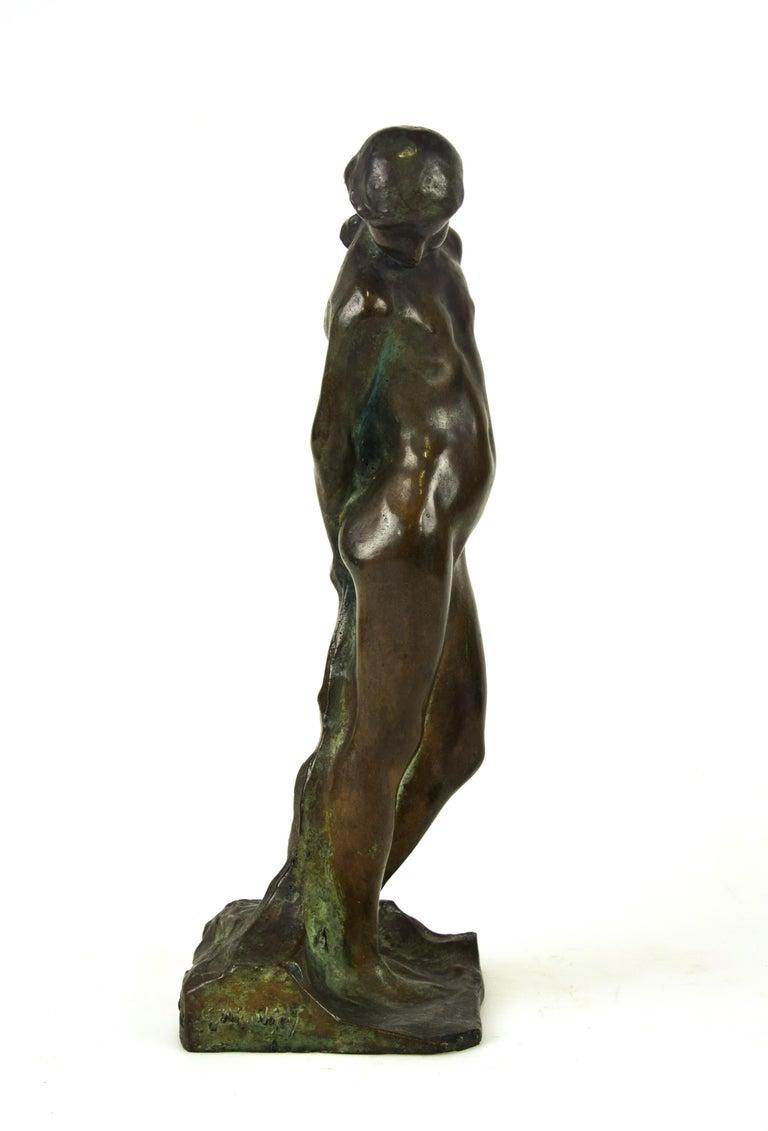 Italian Saint Sebastian, Original Bronze Sculpture by Giovanni Nicolini, 1950s For Sale