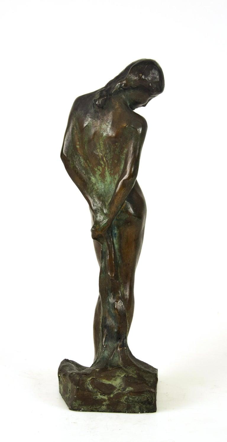 Saint Sebastian, Original Bronze Sculpture by Giovanni Nicolini, 1950s In Good Condition For Sale In Roma, IT