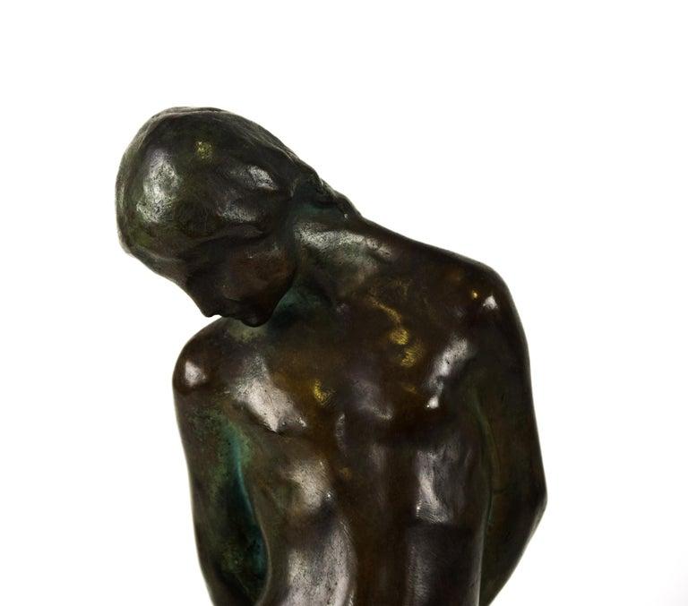 20th Century Saint Sebastian, Original Bronze Sculpture by Giovanni Nicolini, 1950s For Sale