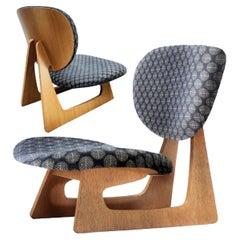Sakakura Junzō, Daisaku Chō, Model 5016 Lounge Chair, Tendo Mokko Japan, 1957