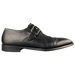 SAKS FIFTH AVENUE by MAGNANNI Size 11.5 Black Perforated Leather Loafers