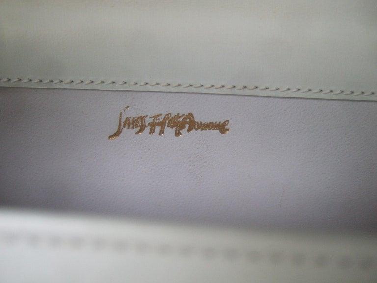 Saks Fifth Avenue Italian Gilt Metal Eagle Emblem Leather Shoulder Bag c 1970s For Sale 12