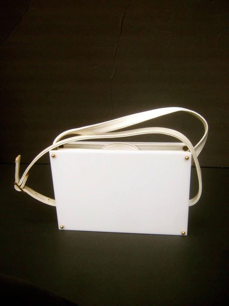 Saks Fifth Avenue Mod White Lucite Tile Handbag C 1970s For Sale At 1stdibs