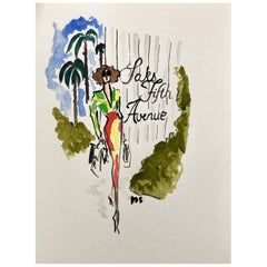 Saks Fifth Avenue, Watercolor on Archival Paper, 2017