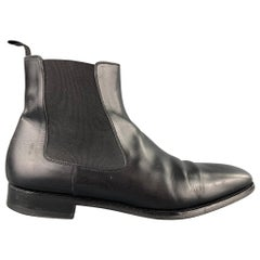 SAKS FITFH AVENUE by MAGNANNI Size 10.5 Black Leather Pull On Boots