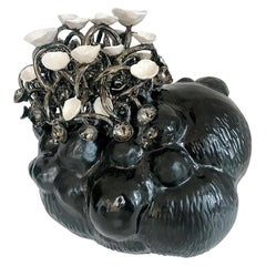 Sakura Collection Black Ceramic Sculpture