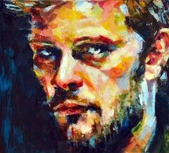 Okay? - original figure male form painting contemporary Art portrait
