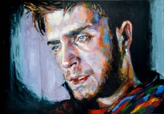 We Are Only Human - Figure Portrait Painting male Contemporary art 21st Century