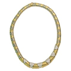 Sal Praschnik 18 Karat 1.98 Diamond Necklace