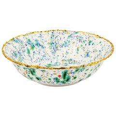 Salad Bowl Gold Hand Painted Coralla Maiuri Modern New Tableware