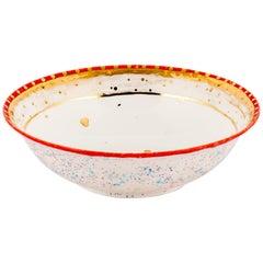 Salad Bowl Gold Hand Painted Coralla Maiuri Modern Plate New Tableware